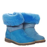 Замшевые сапоги голубого цвета на меху Gallucci, фото