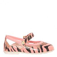 Туфли Moschino из розовой кожи на липучке, фото