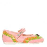 Кожаные туфли Moschino с оригинальным декором в виде змейки, фото