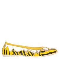Кожаные балетки Moschino с прозрачными вставками, фото