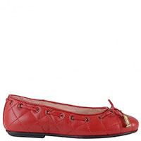 Красные балетки Moschino декорированные аккуратным бантиком, фото