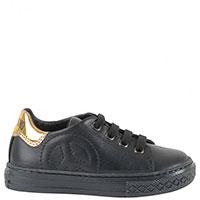 Кожаные кроссовки Moschino с фирменной гравировкой, фото