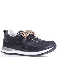 Черные кроссовки Moschino с брендовой надписью, фото