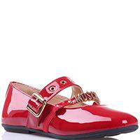Красные туфли Moschino из лаковой кожи, фото