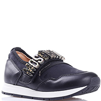 Черные кроссовки Moschino без шнуровки, фото