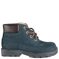 Темно-синие ботинки Naturino из нубука на шнуровке, фото