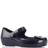 Резиновые туфли Melissa с открытым носочком черные, фото