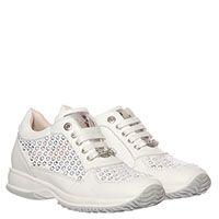 Белые кожаные кроссовки расшитые пайетками Liu Jo, фото