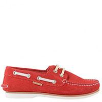 Красные мокасины Naturino с декоративной шнуровкой, фото