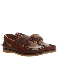 Мокасины кожаные на липучках Naturino коричневого цвета, фото