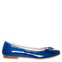Синие балетки Andrea Morelli с декоративным бантиком, фото