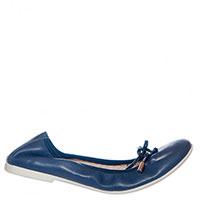 Балетки Liu Jo из мягкой синей кожи, фото