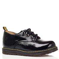 Лаковые туфли на шнуровке Naturino черного цвета, фото