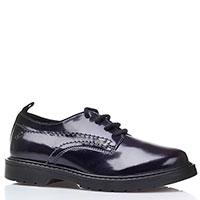 Лаковые синие туфли Naturino на толстой подошве, фото