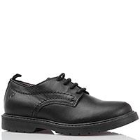 Кожаные туфли на шнуровке Naturino черного цвета, фото