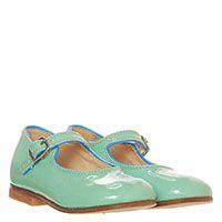Туфли из лаковой кожи на ремешке Gallucci голубого цвета, фото