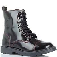 Высокие ботинки Naturino из кожи борового цвета, фото