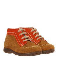 Замшевые ботинки коричневого цвета с оранжевыми вставками Gallucci, фото