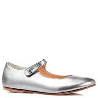 Туфли на ремешке Naturino серебристого цвета, фото