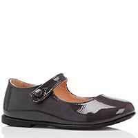 Туфли из лаковой кожи серого цвета Naturino на ремешке, фото