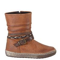 Ботинки Freesby из коричневой кожи с декоративными ремешками, фото