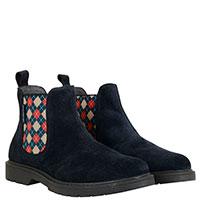 Замшевые ботинки Naturino с разноцветными резинками по бокам, фото