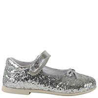 Кожаные туфли Naturino декорированные глиттером, фото
