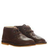 Кожаные ботинки коричневого цвета Naturino с тисненым узором, фото