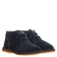 Высокие замшевые туфли синего цвета на яркой шнуровке Naturino, фото