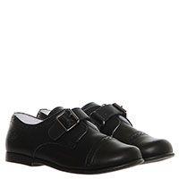 Кожаные туфли-броги черного цвета  Naturino с ремешком, фото