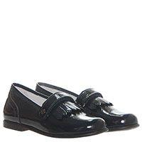 Туфли-лоферы из лаковой кожи синего цвета Naturino на липучках, фото
