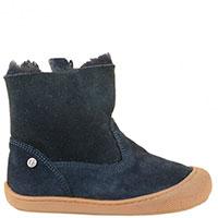 Синие замшевые ботинки Naturino с мехом, фото
