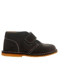 Замшевые туфли Naturino серого цвета на липучке, фото