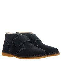 Замшевые ботинки на липучках Naturino синего цвета, фото