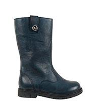 Высокие ботинки Naturino из кожи темно-синего цвета, фото