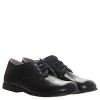 Кожаные туфли на шнуровке Naturino синего цвета, фото