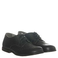 Кожаные туфли синего цвета с перфорацией Naturino на шнуровке, фото