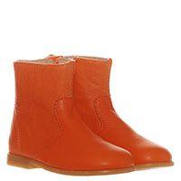 Кожаные ботинки оранжевого цвета Naturino на молнии, фото