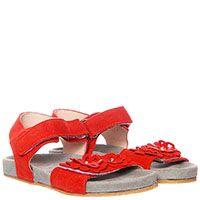 Красные замшевые босоножки Andrea Morelli, фото