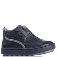 Черные ботинки Naturino с серебристыми вставками, фото
