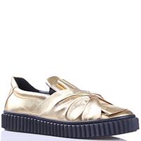 Туфли-слипоны Naturino из кожи золотистого цвета, фото
