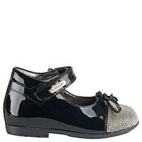 Лаковые туфли Missouri из черной кожи с декором стразами, фото