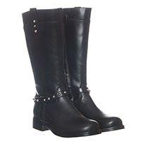 Кожаные сапоги черного цвета Gallucci с металлическими шипами, фото