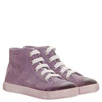 Замшевые кеды розового цвета Jarrett на шнуровке с эффектом потертости, фото