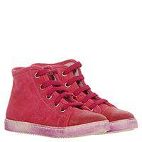 Замшевые кеды яркого розового цвета Jarrett на шнуровке, фото