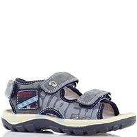 Текстильные сандалии Naturino синие с серым принтом, фото