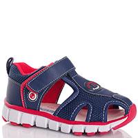 Синие сандалии Falcotto с декором-сеточкой, фото