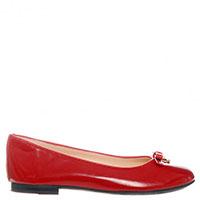 Лаковые балетки Dolce & Gabbana из красной кожи, фото