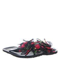 Сланцы черного цвета Miss Blumarine с крупным ярким цветком, фото