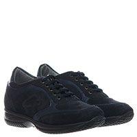 Кроссовки из замши синего цвета с кожаными вставками Guardiani, фото